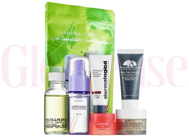 Sephora Canada Favorites Set Kit Canadian Favourites Favorite Favourites Super Ingredients Skincare Collection Kit Set Beauty July 2019 - Glossense