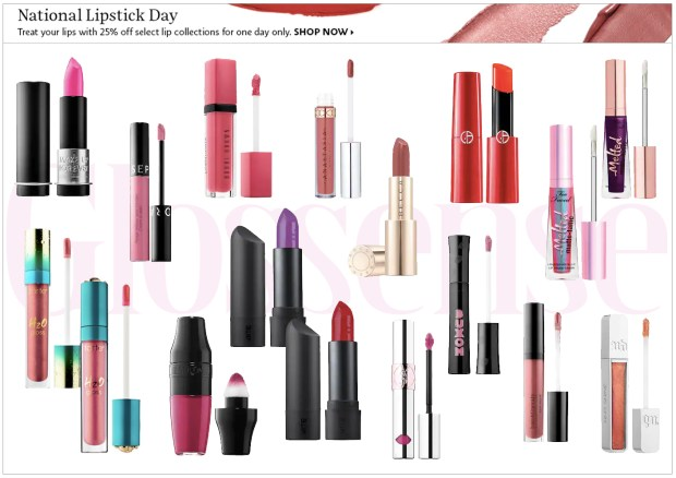 Sephora Canada National Lipstick Day 25 Percent Off Lipstick Lip Products Lippies July 29 2019 Canadian Deals Sale - Glossense