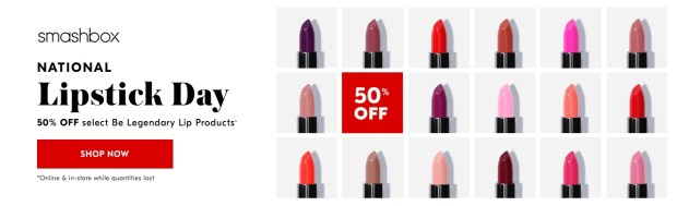 Shoppers Drug Mart Canada Beauty Boutique Canadian SDM Exclusive National Lipstick Day Promotion Event Smashbox Cosmetics Be Legendary Beauty July 29 2019 - Glossense