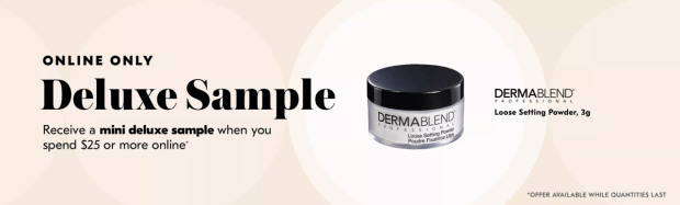 Shoppers Drug Mart SDM Beauty Boutique Canada 2019 Canadian Freebies Deals GWP Free Dermablend Loose Setting Powder Gift Mini Deluxe Makeup Sample - Glossense