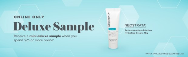 Shoppers Drug Mart SDM Beauty Boutique Canada 2019 Canadian Freebies Deals GWP Free Neostrata Restore Moisture Infusion Hydrating Cream Mini Deluxe Sample - Glossense