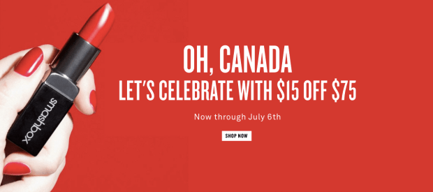 Smashbox Cosmetics Canada Celebrate Canada Day July 1 2019 Sale 15 Off 75 Order 2019 Canadian Deals Promo Code Beauty Discount Offer - Glossense