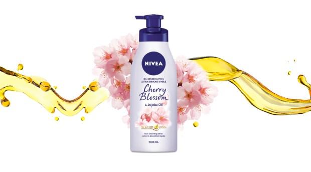 Topbox Canada Beauty Freebies Free Nivea Cherry Blossom Lotion Moisturizer Canadian Sample Freebie - Glossense