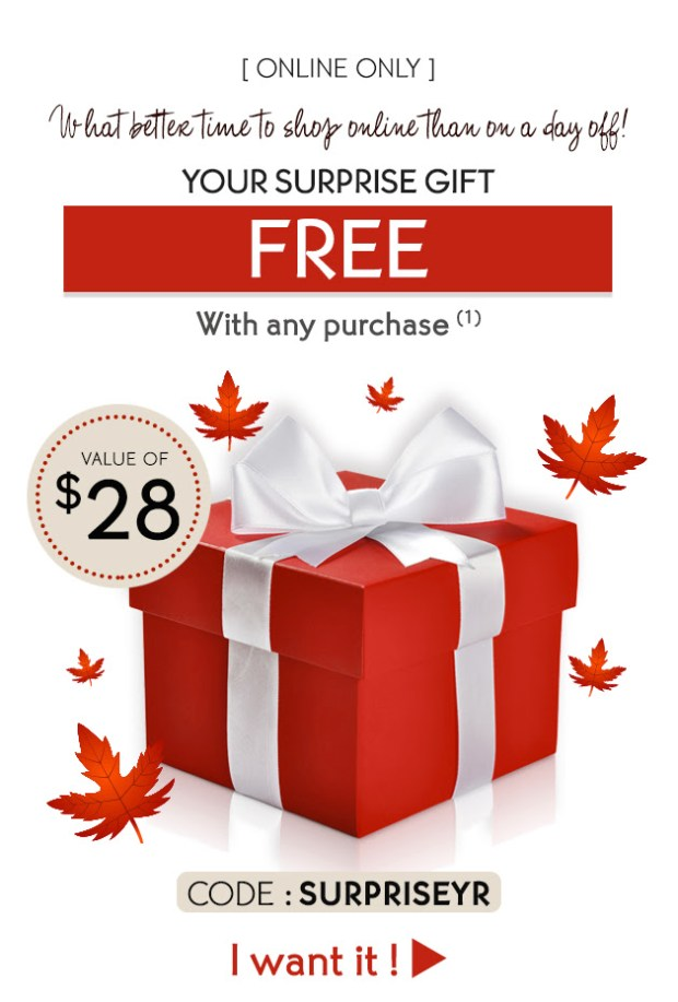 Yves Rocher Canada Day GWP Canadian Beauty Offers Free Surprise Gift July 2019 Freebies - Glossense