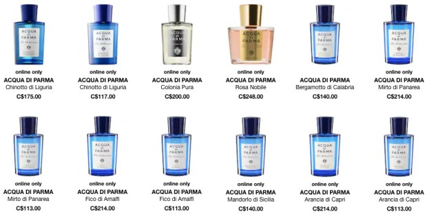 Sephora Canada Acqua di Parma Perfume Cologne Fragrance Canadian Fragrances GWP Gift with Purchase Offer - Glossense