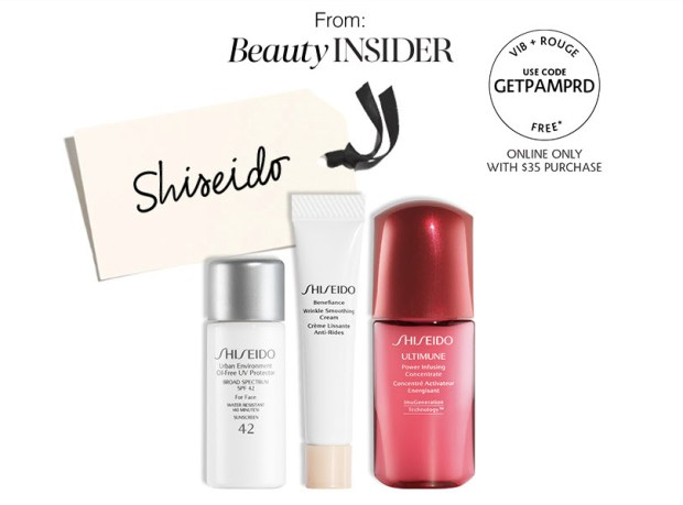 Sephora Canada Beauty Insider Gift August 2019 Rouge VIB Free Canadian Shiseido Skincare Trio 3-pc GWP Gift with Purchase Promo Code Coupon Codes Beauty Offer Reward Perks - Glossense