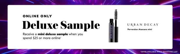 Shoppers Drug Mart SDM Beauty Boutique Canada 2019 Canadian Freebies Deals GWP Free Urban Decay Perversion Mascara Mini Deluxe Sample - Glossense