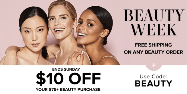 Hudson's Bay Canada The Bay HBC Beauty Week Save on Beauty FREE Shipping on ANY Beauty Order Free Gifts and More Fall 2019 Canadian Deals Sale - Glossense