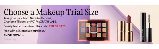 Sephora Canada Canadian Beauty Offers Promo Code Coupon Codes Free Luxe Makeup Mini Deluxe Samples Natasha Denona Pat McGrath Charlotte Tilbury - Glossense