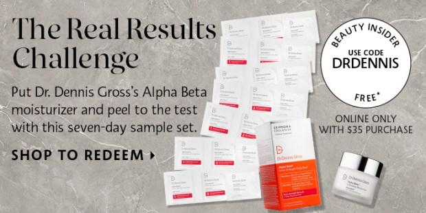 Sephora Canada Canadian Promo Code Coupon Beauty Offer Free Dr. Dennis GrossAlpha Beta Exfoliating Moisturizer and Alpha Beta Extra Strength Daily Peels Sample Set - Glossense