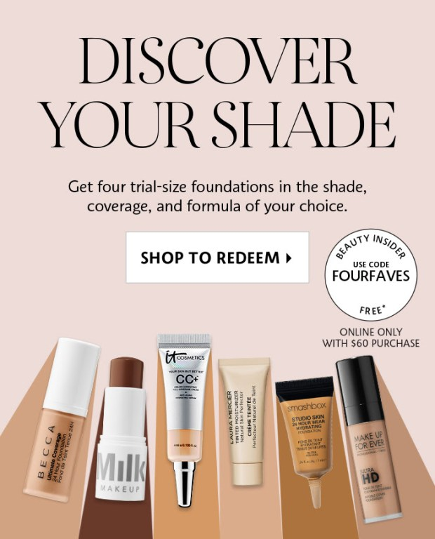 Sephora Canada Canadian Promo Code Coupon Codes FOURFAVES Pick Choose 4 Mini Deluxe Trial Travel Foundation Foundations Samples Minis Beauty Offer GWP Summer Deal September 2019 - Glossense