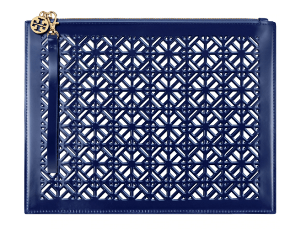 Sephora Canada Free Tory Burch Blue White Pouch Clutch Purse Bag Perfume Fragrance GWP Canadian Promo Coupon Code - Glossense
