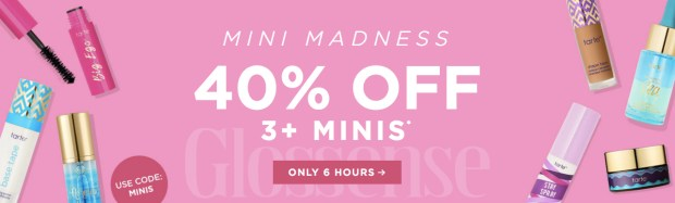 Tarte Cosmetics Canada Mini Madness Flash Sale Canadian Beauty Deals Promo Code September 2019 - Glossense