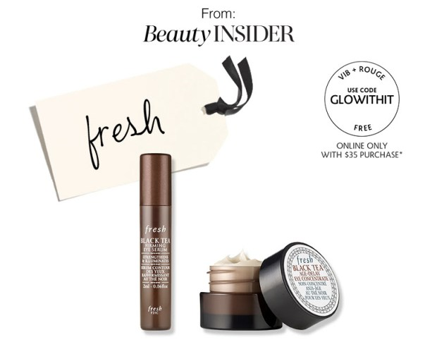 Sephora Canada Beauty Insider Gift October 2019 Canadian Rouge VIB Free Fresh Black Tea Duo Skincare GWP Gift with Purchase Promo Code Coupon Codes Beauty Offer Reward Perks - Glossense