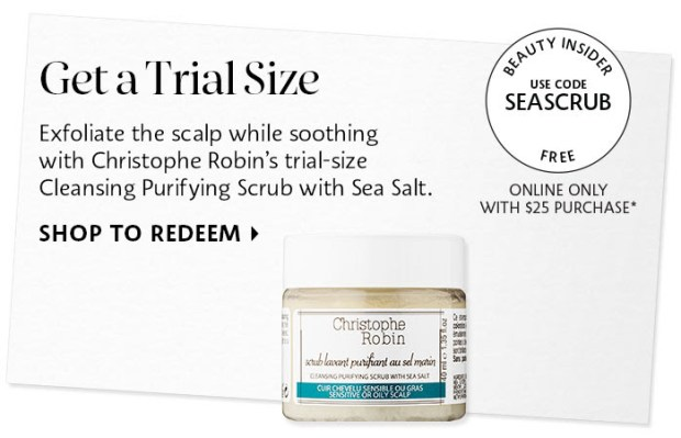Sephora Canada Canadian Coupon Code Promo Codes Beauty Offer Free Christophe Robin Sea Salt Scrub Mini Deluxe Trial Sample GWP Gift with Purchase - Glossense