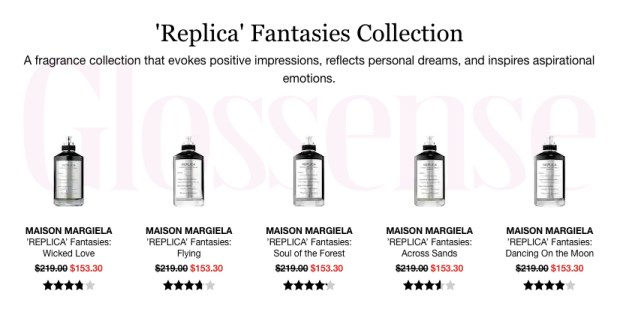 Sephora Canada Hot Canadian Deals Sale 30 Percent Off Maison Margiela REPLICA Fantasies Fragrances Perfume - Glossense