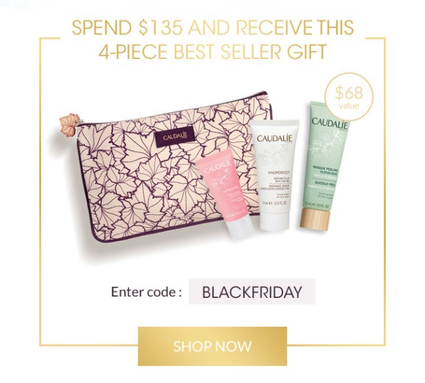 Caudalie Canada 2019 Exclusive Black Friday Free 4-pc Gift Set with Purchase Canadian Deals Sale Promo Code GWP Offer - Glossense