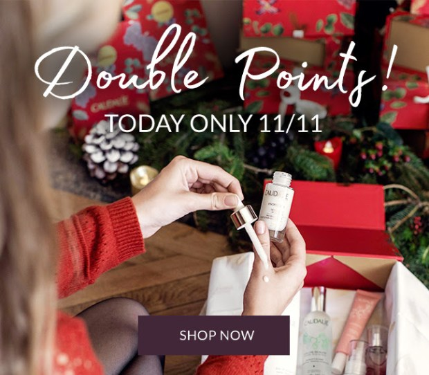Caudalie Canada Singles Day 2019 Double the Points Canadian Deals Loyalty Member Rewards - Glossense