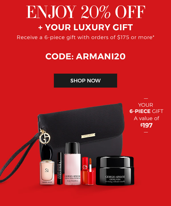 Giorgio Armani Canada 2019 Black Friday Canadian Deals Sale Coupon Code Promo Code - Glossense