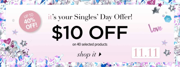 IT Cosmetics Canada Singles Day Sale Up to 40 Percent Off 40 Products 2019 Canadian Deals - Glossense