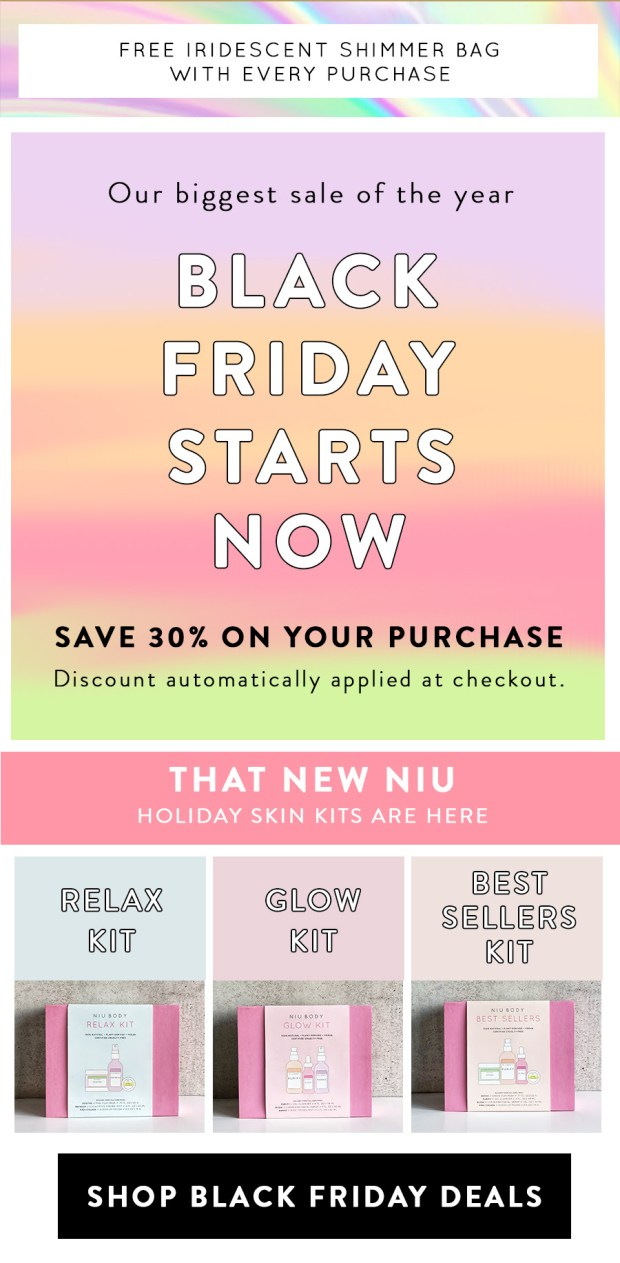 Niu Body Canada 2019 Black Friday Canadian Sale Deals GWP November 27 2019 - Glossense