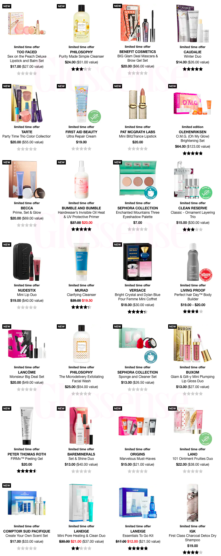 Sephora Black Friday 2019 - 01/2021