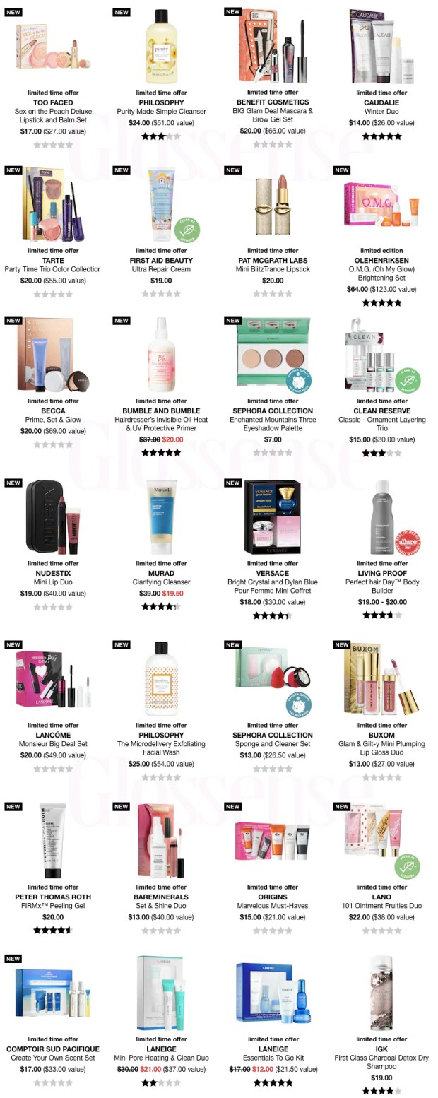 Sephora Canada 2019 Canadian Black Friday Beauty Deals Sale Sales Cyber Monday Week Full Preview Sneak Peek Offer Offers Promo Promos Skincare Makeup Perfume Sets - Glossense
