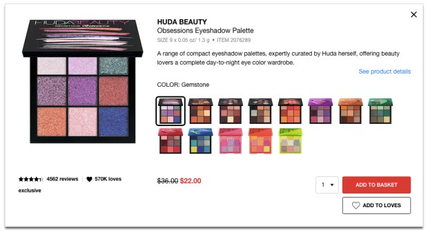 Sephora Canada Cyber Week Hot Fall Winter Holiday 2019 Canadian Sale Save on Huda Beauty Palettes November 2019 Sale Canadian Deals - Glossense