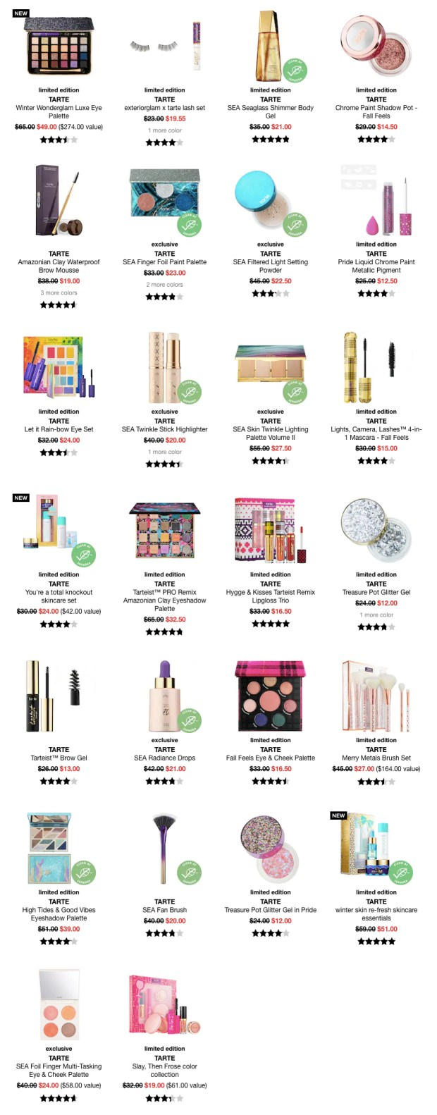 Sephora Canada Cyber Week Hot Fall Winter Holiday 2019 Canadian Sale Save on Tarte Cosmetics November 27 2019 Sale Canadian Deals - Glossense
