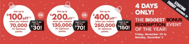 Shoppers Drug Mart Canada Beauty Boutique SDM Black Friday Event 2019 Canadian Deals Biggest Bonus PC Optimum Points Bonus Redemption Event - Glossense