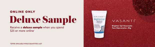 Shoppers Drug Mart SDM Beauty Boutique Canada 2019 Canadian Freebies Deals GWP Free Vasanti Brighten Up Face Cleanser Mini Deluxe Sample - Glossense