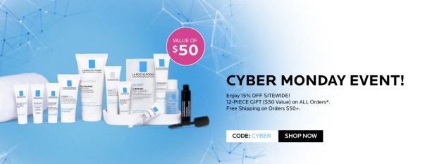 La Roche-Posay Canada 2019 Cyber Monday Sale 15 Off Sitewide Free 12-pc Gift with ANY Order Canadian Deals GWP Offer Promo Code - Glossense