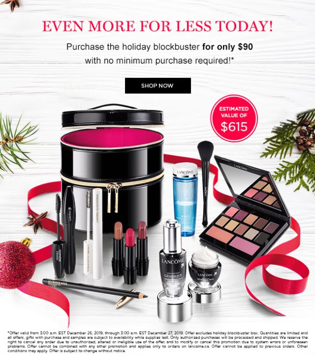 Lancome Canada Hot Boxing Day Holiday Blockbuster NOW Only 90 615 Value 2019 Canadian Beauty Deals - Glossense
