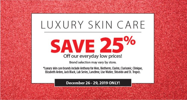 London Drugs Canada 2019 Boxing Day Sale Now LIVE 25 Off Luxury Skincare Save on Makeup Fragrances More Canadian Beauty Deals 2 - Glossense