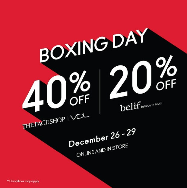 Nature Collection Canada 2019 Boxing Day Sale 40 Off The Face Shop VDL 20 Off Belif Canadian Deals - Glossense