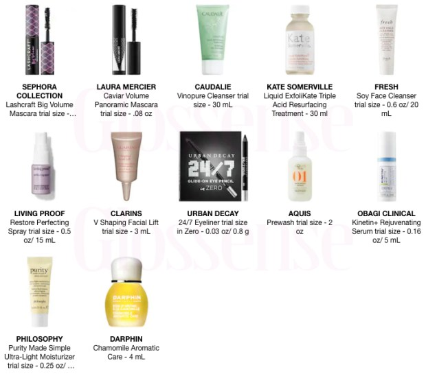 Sephora Canada Canadian Promo Code Coupon Code GETMORE Pick Choose 1 to 5 Mini Deluxe Trial Samples Beauty Offer GWP Winter Holiday 2019 - Glossense