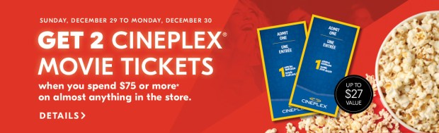 Shoppers Drug Mart Beauty Boutique SDM Canada Canadian Deals Promo Freebies Free Cineplex Movie Tickets Showtime December 2019 - Glossense