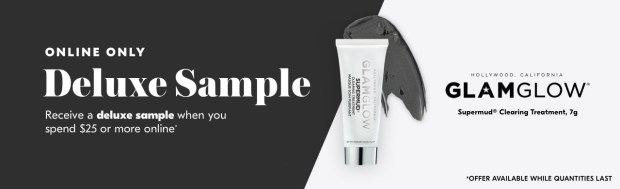 Shoppers Drug Mart SDM Beauty Boutique Canada 2019 Canadian Freebies Deals GWP Free GlamGlow Supermud Mask Treatment Mini Deluxe Sample - Glossense