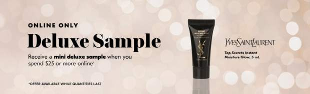 Shoppers Drug Mart SDM Beauty Boutique Canada 2019 Canadian Freebies Deals GWP Free YSL Yves Saint Laurent Top Secrets Instant Moisture Glow Skincare Mini Deluxe Sample - Glossense
