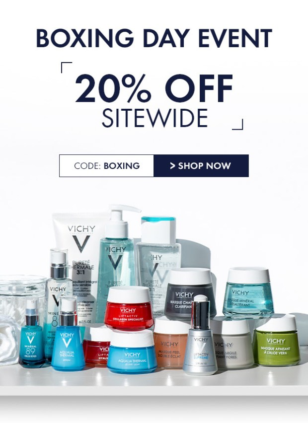 Vichy Canada 2019 Boxing Day Sale 20 Off Sitewide Canadian Deals Promo Code - Glossense