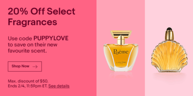 Ebay Canada Promo Code 20 Off Select Fragrances 2020 Valentine's Day Canadian Deals Coupons - Glossense