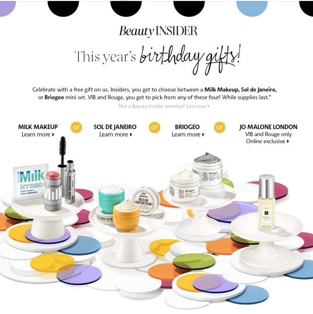 Sephora Canada Free 2020 Birthday Gift Canadian Beauty Insider Freebies Gifts Rewards - Glossense