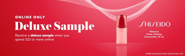 Shoppers Drug Mart SDM Beauty Boutique Canada 2019 Canadian Freebies Deals GWP Free Shiseido Ultimune Power Infusing Concentrate Mini Deluxe Sample - Glossense