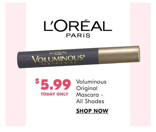 Beauty Shoppers Drug Mart Canada 40 Off L'Oreal Paris Voluminous Original Mascara 2020 National Lash Day Canadian Deal Sale - Glossense