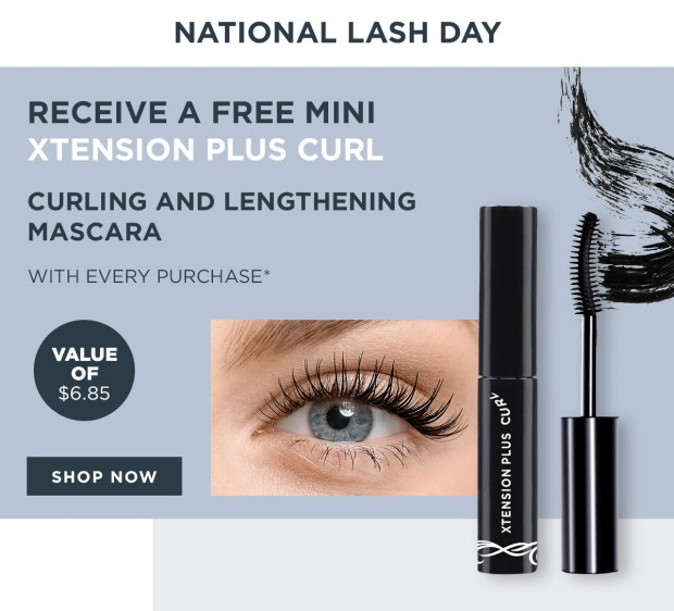 Marcelle Canada Free Mini Xtension Plus Curl Mascara with Any Order 2020 National Lash Day Canadian Deals GWP Offer - Glossense