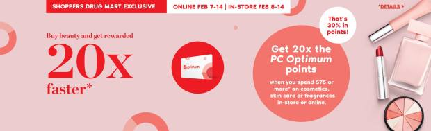 Shoppers Drug Mart Canada SDM Canadian Beauty Boutique PC Optimum Offer Bonus Beauty Get Rewarded Free PC Points February 14 2020 - Glossense