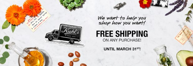 Kiehls Canada Free Shipping 3 Free Samples with ANY Online Order Canadian Deals March 2020 - Glossense