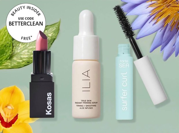 Sephora Canada Promo Code Free Clean-Makeup Mini Deluxe Sample Kosas Lipstick Ilia Primer Tarte Mascara Canadian GWP Beauty Offer - Glossense