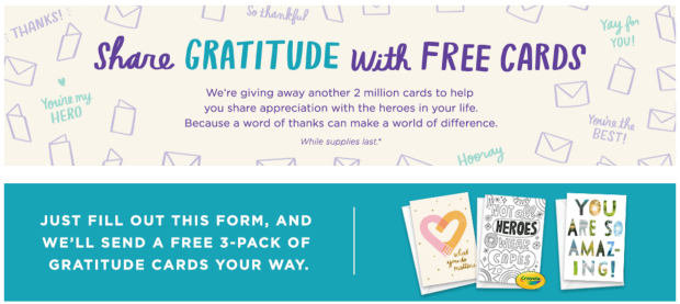 Hallmark Canada Share Gratitude with Free Cards Get Free 3-Pack Canadian Freebies - Glossense