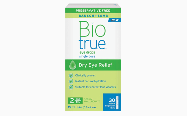 Sampler Canada Canadian Freebies Free Sample of Biotrue Preservative-Free Dry Eye Relief Eye Drops - Glossense